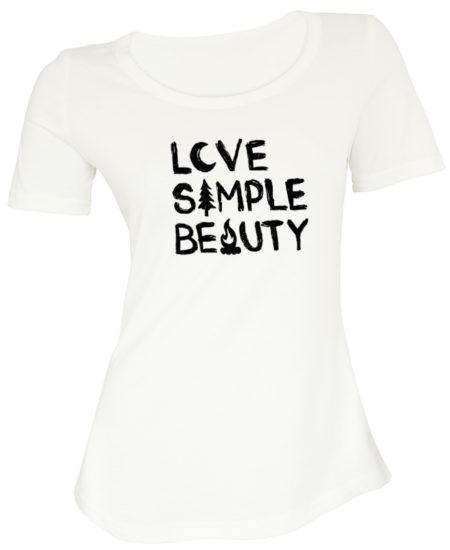Ladies T-shirt, Love Simple Beauty
