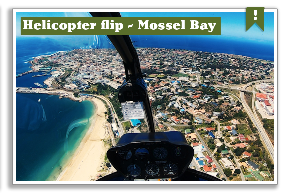Helicopter flip over Mossel Bay