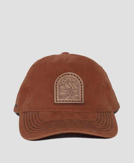 Cap- Vintage Burnt Orange with Leather Patch