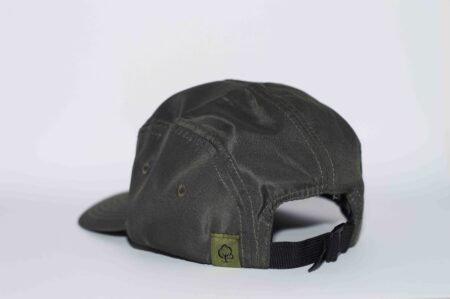 Olive Cap with leather patch