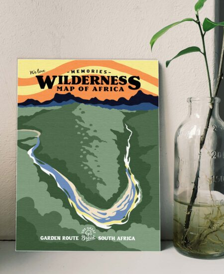 Wilderness Map of Africa Poster