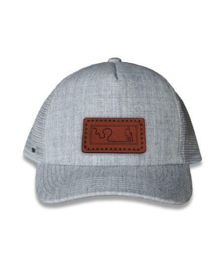 Grey Trucker Cap, Hiker